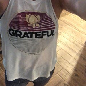 Tops - Spiritual gangster grateful muscle tee sz S